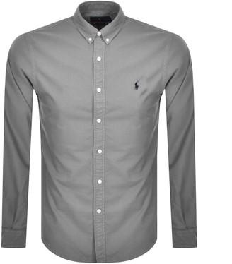 Ralph Lauren Oxford Long Sleeved Shirt Grey