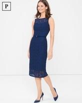 White House Black Market Sleeveless Lace Sheath Dress