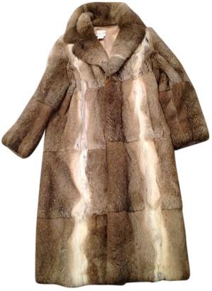 Celine Beige Rabbit Coat for Women Vintage