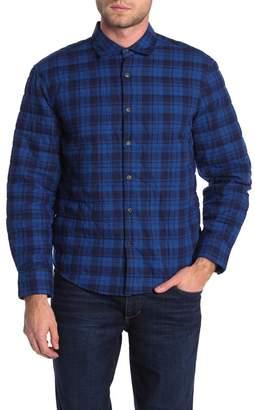 Thomas Dean Padded Plaid Shirt Jacket