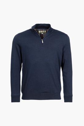 Barbour Navy Gamlin Half Zip Sweater