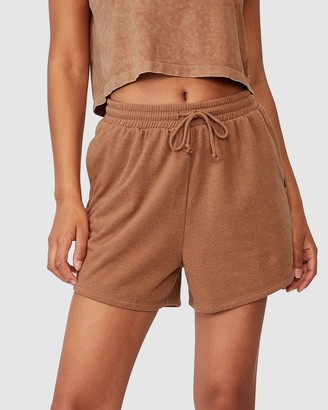 Cotton On Body Active - Women's Brown High-Waisted - On Ya Bike Fleece Shorts - Size XS at The Iconic