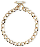 Givenchy Chain Choker In Gold-plated Brass And arble