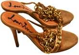 Lanvin Gold Suede Sandals