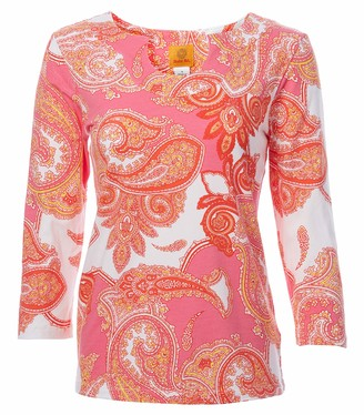Ruby Rd. Women's Delicate Paisley Print Top