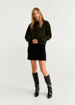 MANGO Corduroy belt miniskirt medium brown - XXS - Women