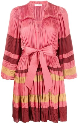 Ulla Johnson Alia striped pleated dress