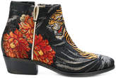 P.A.R.O.S.H. embroidered appliqués ankle boots
