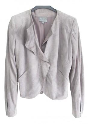 Roberta Furlanetto Purple Suede Jacket for Women