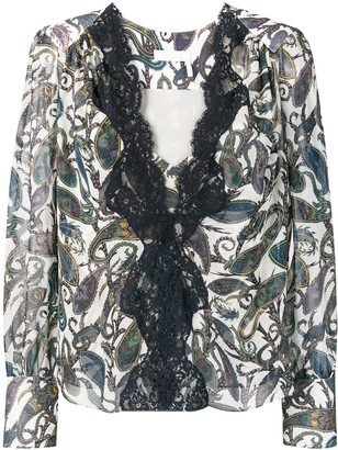 Chloé lace trim blouse