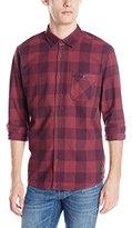 Quiksilver Men's Yardbite Buffalo Long Sleeve Plaid Shirt