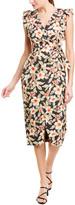 Rebecca Taylor Kamea Linen-Blend Wrap Dress