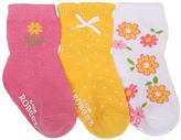 Robeez Pink Flower Garden Three-Pair Socks Set