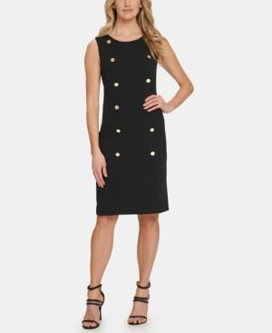DKNY Sleeveless Button Sheath