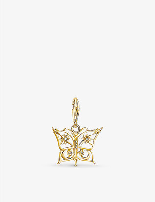 Thomas Sabo Butterfly 18ct gold-plated sterling silver charm