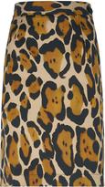 Vivienne Westwood Anglomania Basic Mini Pencil Skirt Leopard Size 38