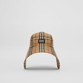 Burberry Logo Applique Vintage Check Bonnet Cap