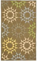 Martha Stewart Quilt Opal/ Grey Cotton Rug (3' 9 X 5' 9)
