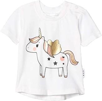 HUXBABY Unicorn T-Shirt (Infant/Toddler) (White) Girl's Clothing