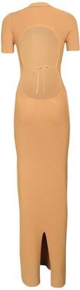 Jacquemus Knit Viscose Blend Dress W/ Back Cutout