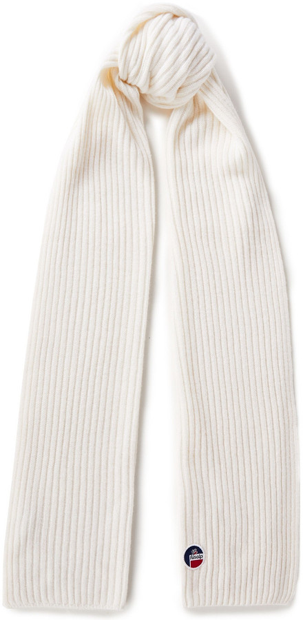 Fusalp Ribbed Merino Wool And Cashmere-blend Scarf