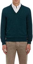 Barneys New York Men's Cashmere V-Neck Sweater-BLUE