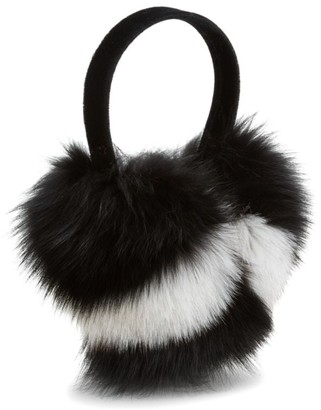 Pologeorgis Two-Tone Fox Fur Earmuffs