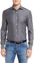 Kiton Royal Oxford Shirt, Gray