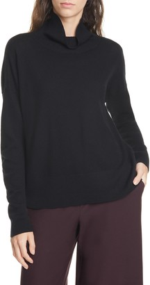 Eileen Fisher Funnel Neck Boxy Merino Sweater