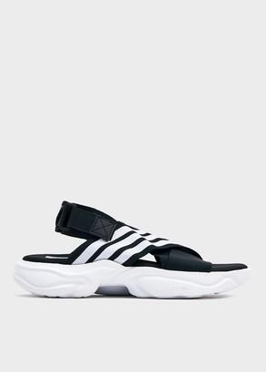 adidas Women's Magmur Sandal W in Core Black/Ftwr White/Ftwr White, Size 5