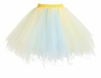 HomRain Petticoat Tutu Tulle Skirt 1950s Rockabilly Underskirt Short Ballet Dance Skirt Retro Evening Dress RoyalBlue S