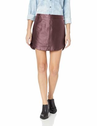 BB Dakota Junior's Conrad Leather Mini Skirt