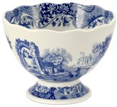 Spode Dinnerware, Blue Italian Footed Bowl