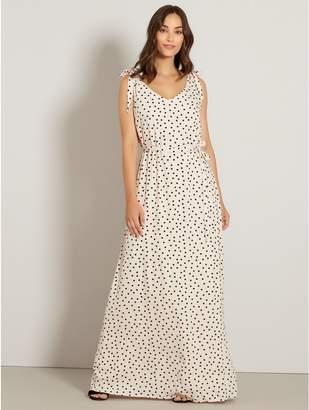 M&Co VILA spot print maxi dress