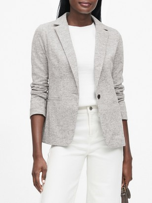 Banana Republic Unstructured Wool-Blend Knit Blazer