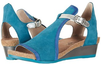 Blue Velvet Wedges Shoes | Shop the