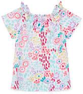 Okie Dokie Bow Sleeve Blouse - Toddler Girls