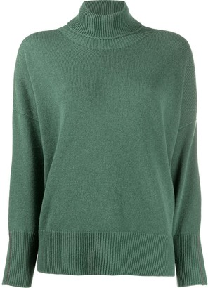 Peserico Drop Shoulder Roll Neck Jumper