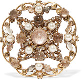 Erickson Beamon Accidental Tourist Gold-plated Multi-stone Brooch - One size