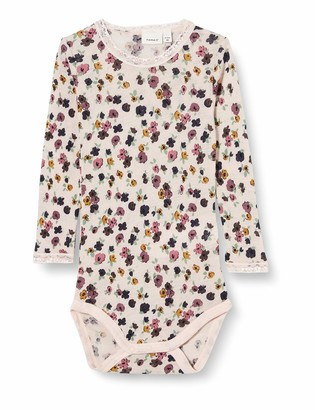 Name It Baby Girls' NBFWANG Wool Needle LS Body NOOS XX Bodysuit