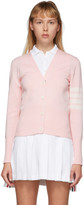 Thom Browne Pink Hector Icon Cardigan