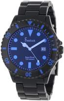 Freelook Men's HA1440-1D Sea Diver Spectrum Black Plastic with Tinted Face-Blue Watch