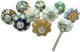 Ibacrafts Ceramic Knob Kitchen Drawer Knobs Hand Painted Cabinet Decorative Lot Of 10 Pcs