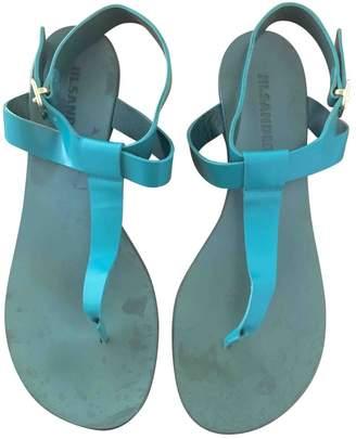 Jil Sander Turquoise Leather Sandals
