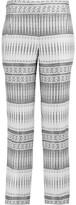 Amanda Wakeley Jacquard Straight-Leg Pants