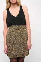 Mirror/Dash Leopard Print Skirt