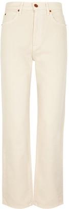 SLVRLAKE London Ecru Straight-leg Jeans