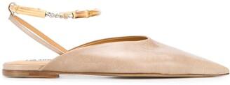 Jil Sander Pointed Ballerina Shoes