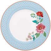 Pip Studio Rose Dinner Plate - Blue