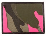 Valentino Camouflage Leather Card Holder